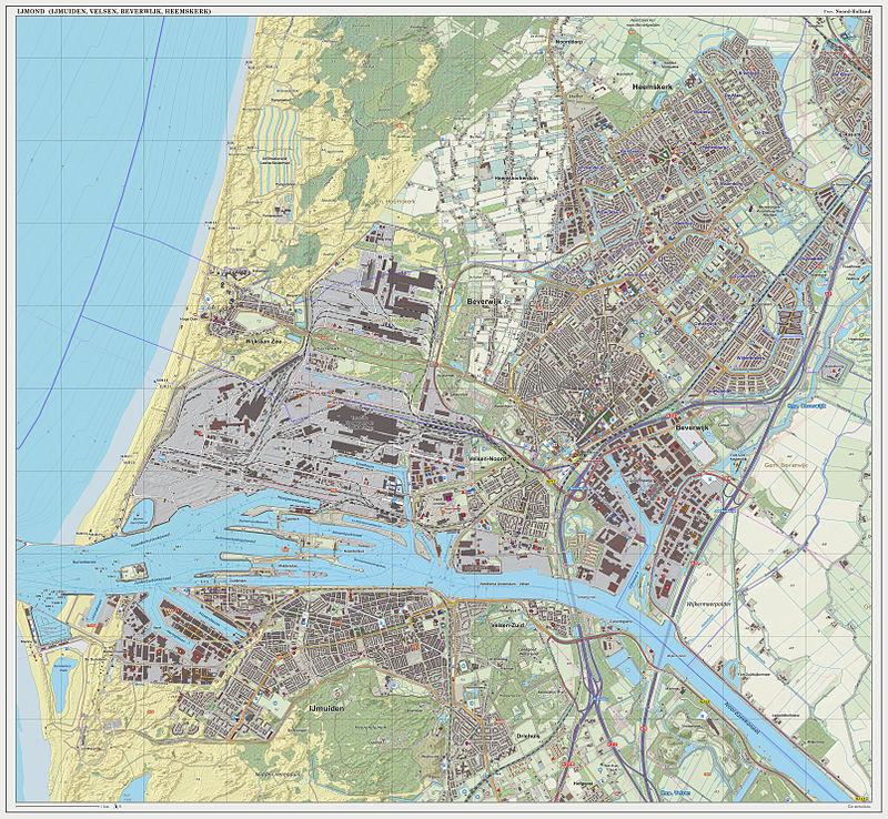 IJmond Topografie